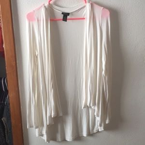 Cream cardigan. RUE 21.